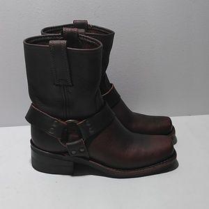 Frye harness square brown boots sz 6 women
